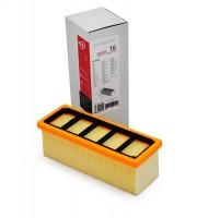 Фильтр плоский складчатый ZS 016 из целлюлозы повышенной фильтрации (бумага) для пылесосов KARCHER серии A, K,  SE 5.100, SE 6.100 тип 6.414-498
