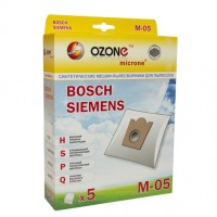 Синтетические мешки-пылесборники Ozone M-05 microne для пылесосов BOSCH, SIEMENS тип BBZ41FG