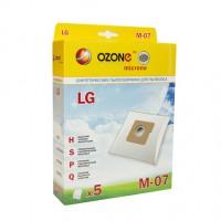 Синтетические мешки-пылесборники Ozone M-07 microne для пылесосов LG