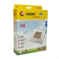 Синтетические мешки-пылесборники Ozone M-08 microne для пылесосов LG