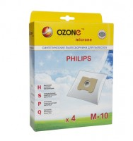 Синтетические мешки-пылесборники Ozone M-10 microne для пылесосов PHILIPS  тип HR 6947