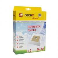Синтетические мешки-пылесборники Ozone M-12 microne для пылесосов ROWENTA DYMBO