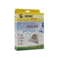 Синтетические мешки-пылесборники Ozone M-19 microne для пылесосов PHILIPS VISION