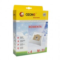 Синтетические мешки-пылесборники Ozone M-31 microne для пылесосов ROWENTA тип ZR 0015