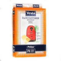 Бумажные пылесборники Vesta Filter PH 01 для пылесосов PHILIPS
