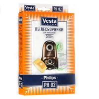 Бумажные пылесборники Vesta Filter PH 02 для пылесосов PHILIPS тип S-bag