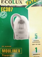 Бумажные пылесборники Ecolux EC307 для MOULINEX powerstar