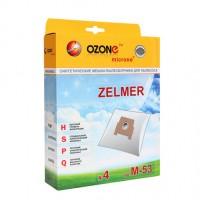 Синтетические мешки-пылесборники Ozone M-53 microne для пылесосов ZELMER тип 49.4000 (ZVCA100B)