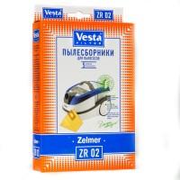 Бумажные пылесборники Vesta Filter ZR 02 для пылесосов ZELMER тип 49.4000 (ZVCA100B)