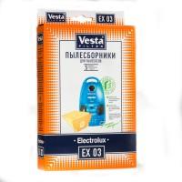 Бумажные пылесборники Vesta Filter EX 03 для пылесосов ELECTROLUX тип ES 49