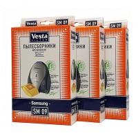 Бумажные пылесборники Vesta Filter SM 09 XXL-Pack 15шт для пылесосов