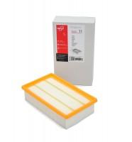 Фильтр предмоторный складчатый ZS 011 из белой целлюлозы (бумага) для пылесосов BOSCH GAS 35, KARCHER NT 35 тип 6.904-367