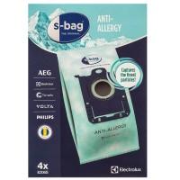 Синтетические пылесборники Electrolux E206S c антиаллергенной пропиткой и пластиковым фланцем Тип S-bag