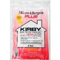 Синтетические мешки-пылесборники для KIRBY BA-205614 MICRON MAGIC HEPA FILTER PLUS к любым моделям, оригинальные  (6шт)